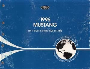 1996 Ford Mustang Electrical  U0026 Vacuum Troubleshooting Manual Original