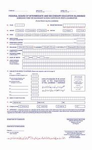 Admission Form Of Ssc Annual Exams 2015  Part I