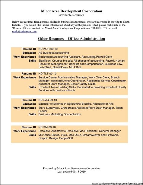 office manager resume format free sles exles