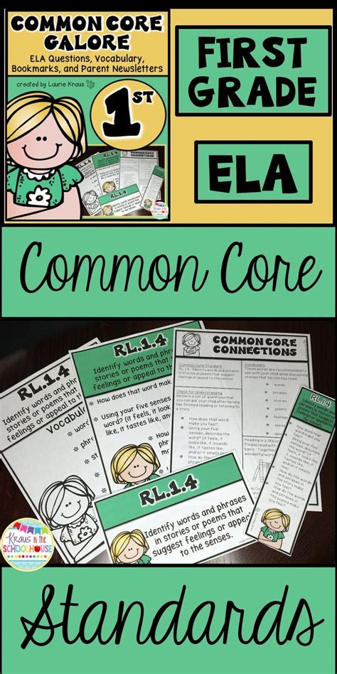 1st Grade Common Core Ela Reading Literature And Informational Text  A Well, Student And Common
