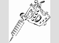 Chainsaw Dxf File Free Download 3Axisco Tattoo Gun Clipart Suggest