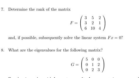 solved determine the rank of the matrix f 3 5 2 3 2 1 chegg