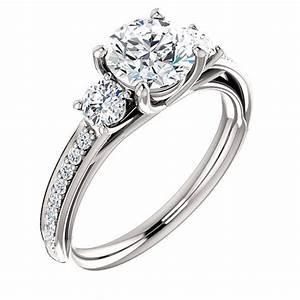 swarovski cubic zirconia engagement ring pure by sigojewelry With swarovski wedding ring