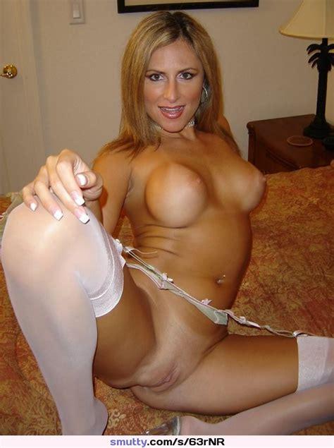 Milf Mature Cougar Lingerie Spread Stockings Blond