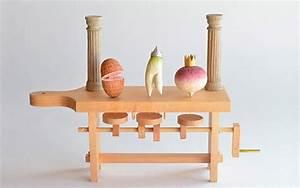 Wooden, Hand-Cranked Automata by Kazuaki Harada - PLAIN