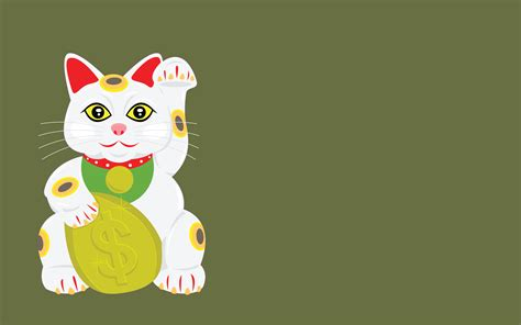 japanese lucky cat wallpaper wallpapersafari