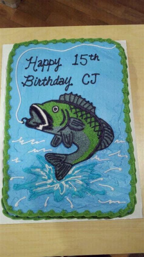 bass fish birthday cake cakecentralcom