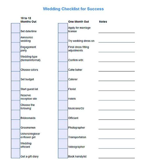 checklist template easy  helpful tools
