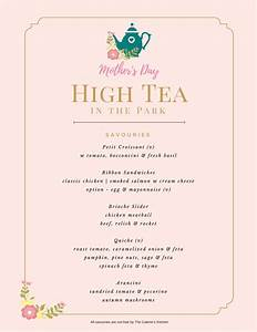 menu high tea menu template With tea party menu template