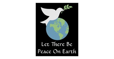 tote peace let there be peace on earth poster zazzle