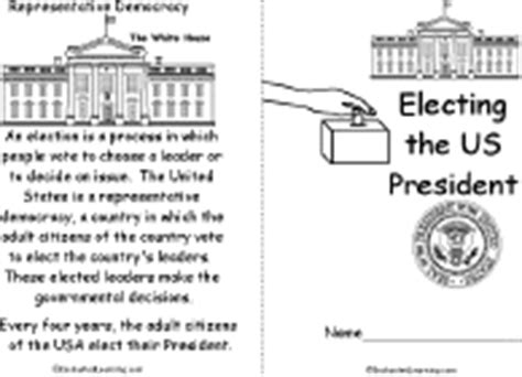 Election Worksheets And Activities Enchantedlearningcom