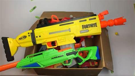 nerf fortnite box  toys toy guns nerf blasters youtube