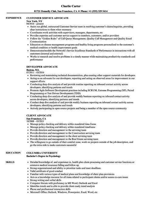 advocate resume sles velvet