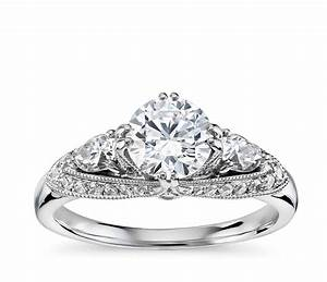 truly zac posen vintage three stone diamond engagement With three stone wedding ring