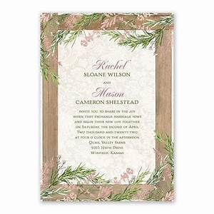 country charm foil invitation invitations by dawn With rustic wedding invitations david s bridal