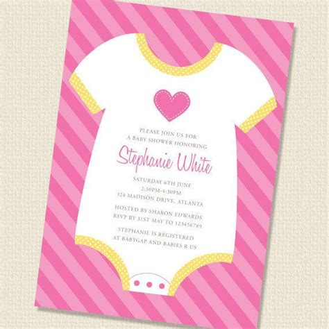 Baby Shower Wording Ideas For A Boy - items similar to baby onesie baby shower invitation