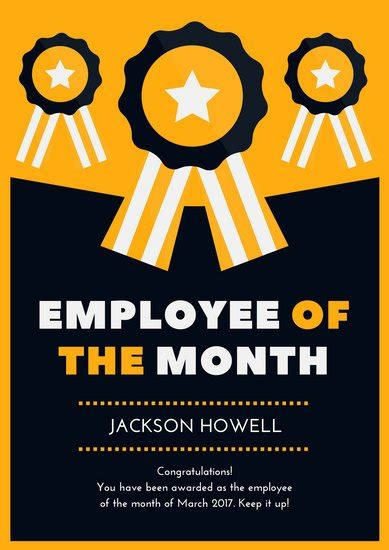 ribbon employee   month poster templates  canva