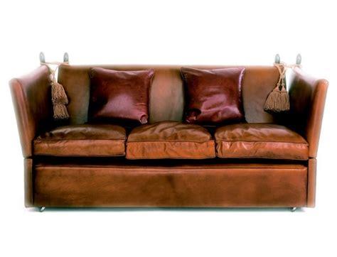 Knole Settee by Leather Knole Sofa Leather Knole Settee Leather Knoll