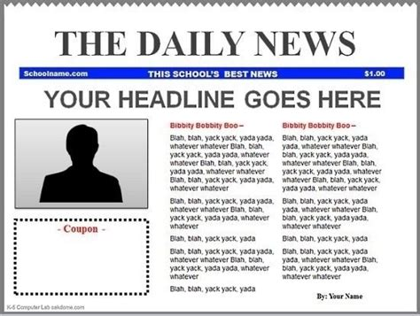 editable newspaper template docs blank newspaper template docs world of label