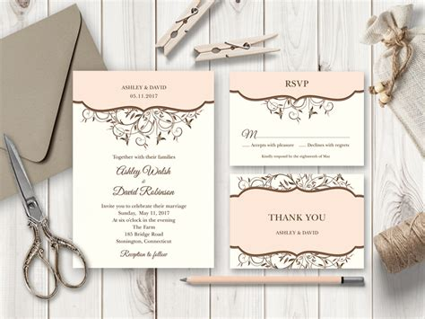diy wedding invitations shishko templates