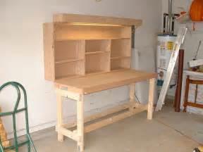 Folding Garage Workbench Plans