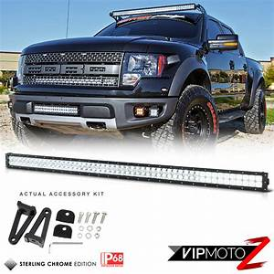 Quot inch roof grill mount smd cree led lights bar driving