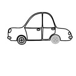 Toy Car Outline Clip Art Black and White