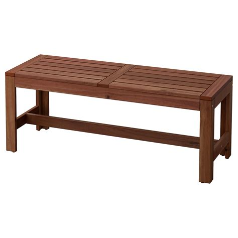 aepplaroe bench outdoor brown stained ikea