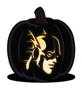 Yoda Pumpkin Carving Designs by Super Heroes Orange And Black Pumpkins
