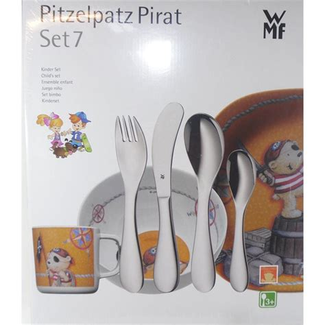 wmf geschirr set wmf kinder set pitzelpatz pirat 7 t besteck glatt poliert kunststoff geschirr ebay