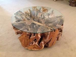 Wurzelholz Tisch Mit Glasplatte : wohnzimmertisch baumwurzel der tischonkel ~ Bigdaddyawards.com Haus und Dekorationen