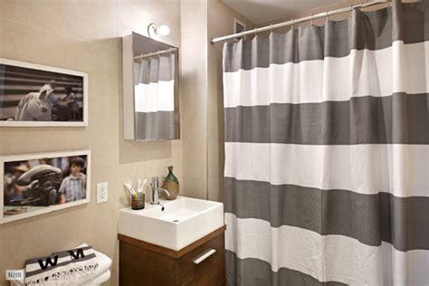 West Elm Yellow Stripe Shower Curtain