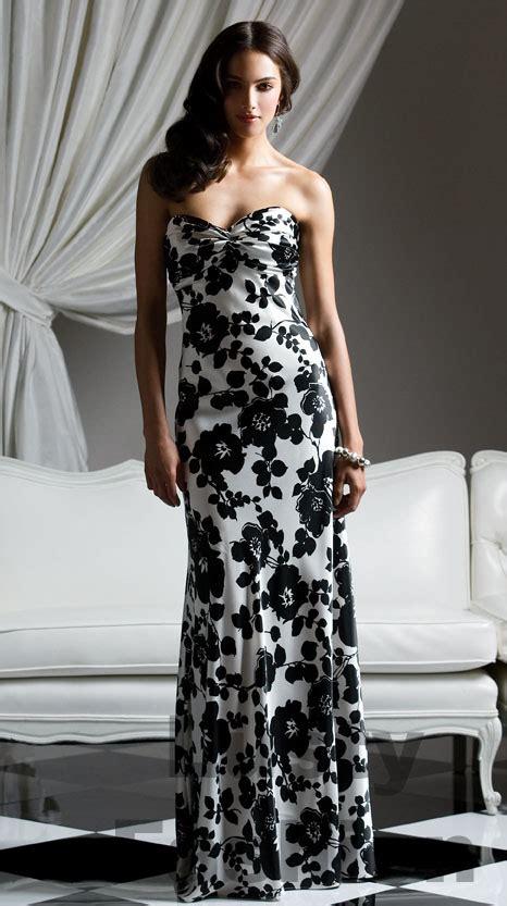 attractive black  white dress  add glamour  ur