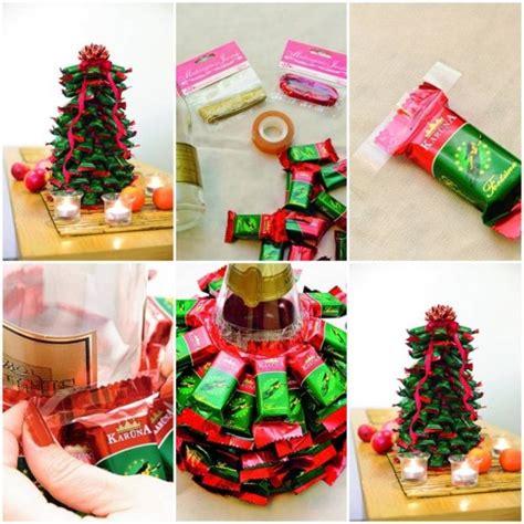 how to make christmas tree with chocolate bars diy