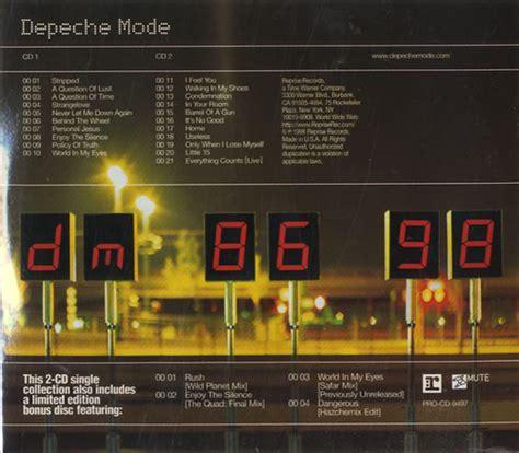 depeche mode  singles   promo  cd album set