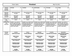 themes units preschool lesson plans theme sports With sports lesson plan template