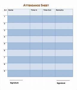 School Attendance Sheet Template 16 Attendance Sheet Templates To Download For Free