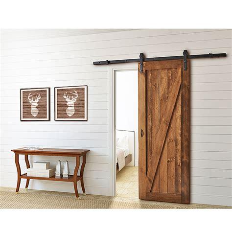 colonial elegance rail pour porte coulissante barn noir