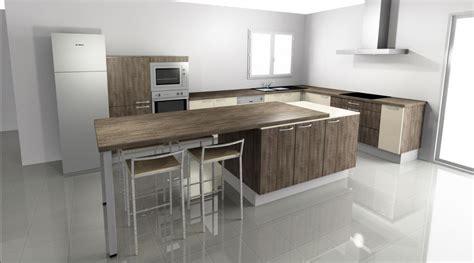 cuisine avec ilot central et table cuisine avec table intgre cuisine avec lot mtairie