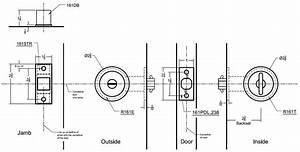 240s03cd Converging Pocket Door Lock Set