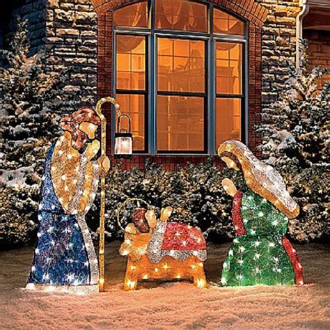 jesus outside christmas lights outdoor decor ideas home designing
