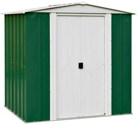 shed b and q 6x5 greenvale apex metal shed departments diy at b q