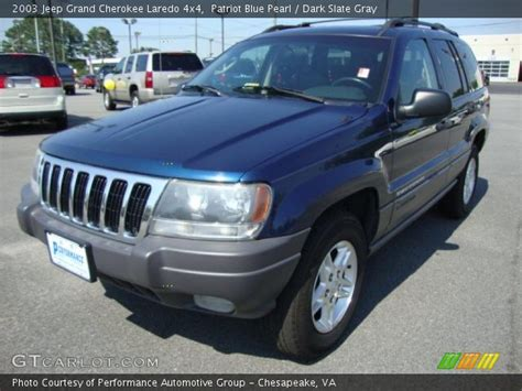 blue grey jeep cherokee patriot blue pearl 2003 jeep grand cherokee laredo 4x4