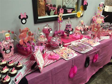 Minnie Mouse Themeddy Buffet  Ee  Ideas Ee   Table