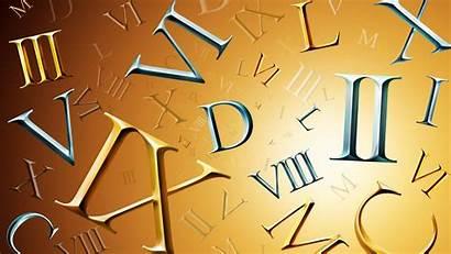 Roman Background Numerals Numbers Gradient Typography