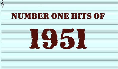perry como number one hits the number one hits of 1951 hot pop songs