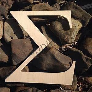 8 inch greek wooden letters in stock and ready to ship With 8 inch unfinished wooden letters