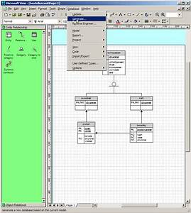 Creating A Database With Visio 2000 Enterprise