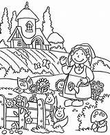 Coloring Garden Pages Gardening Lovely Welcome Spring Grass Drawing Tall Easy Tools Printable Fairy Preschool Getdrawings Getcolorings sketch template