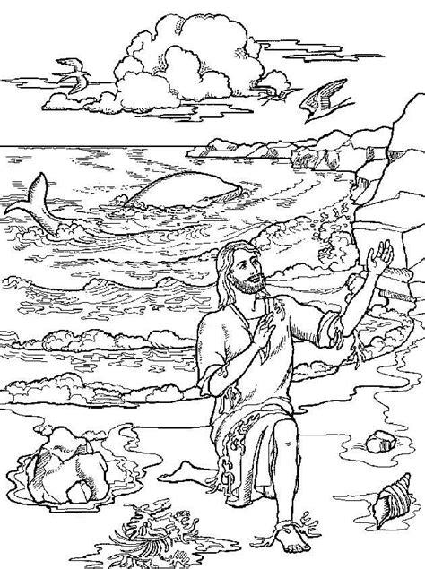 Kleurplaat Jona by Jona Weer Aan Land Gkv Apeldoorn Zuid